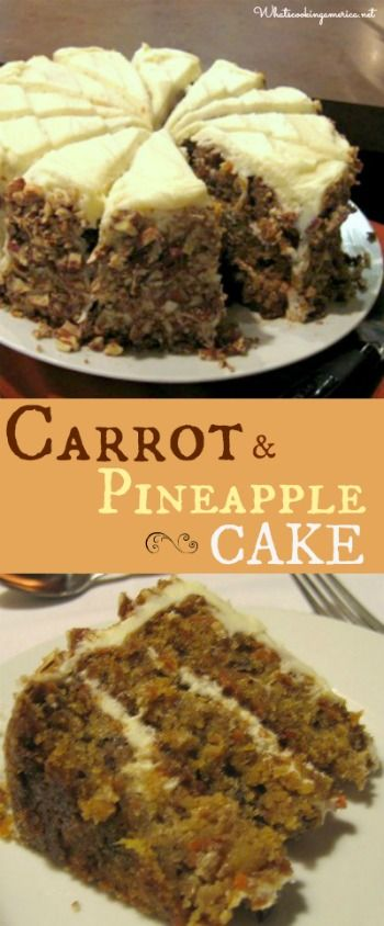 Carrot and Pineapple Cake Recipe  |  whatscookingamerica.net  |  #carrot #pineapple #cake
