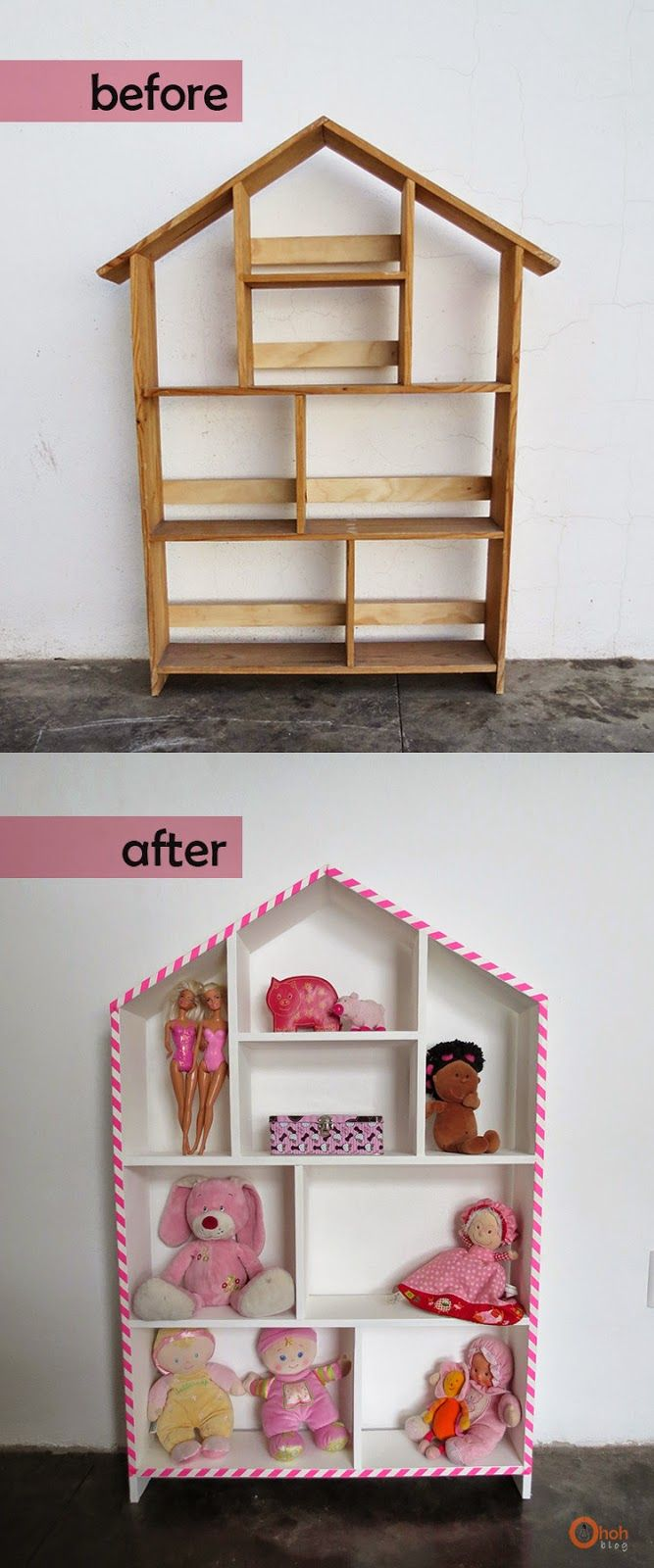 Ohoh Blog: House shelf makeover #storage #shelf #beforeafter