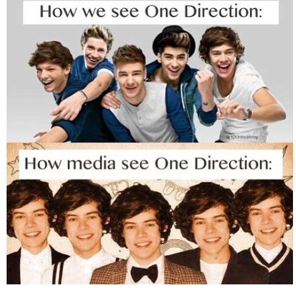 But seriously though, and it's unfair on all of them, Harry because he gets put under so much more scrutiny and Niall, Louis, Liam and Zayn because in some interviews and news stories it's like they are just Harry's friends that he dragged along for company :(
