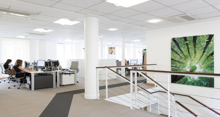 Open space into Goodman's offices in Paris, France