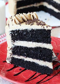 Caramel Mocha Chocolate Cake - Life Love and Sugar  I absolutely love caramel frappuccino!