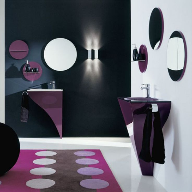 Best Purple Bathrooms Images On Pinterest Beautiful Bathrooms - Purple bathroom decor for small bathroom ideas