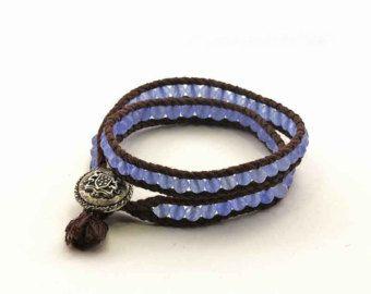 Sensación azul 5 x Wrap Pulsera collar de x 2 por monroejewelry