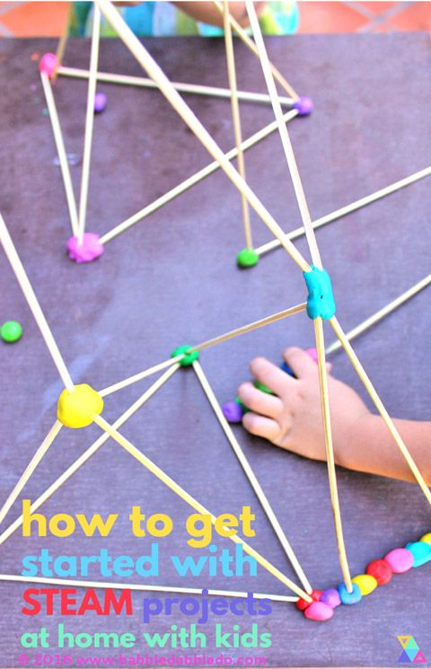 Learn how get started with STEAM projects at home with your kids. AD