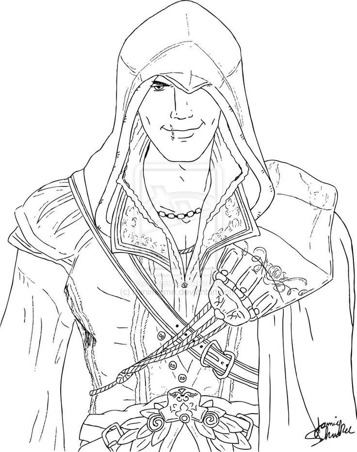 Assassins Creed 3 coloring sheet