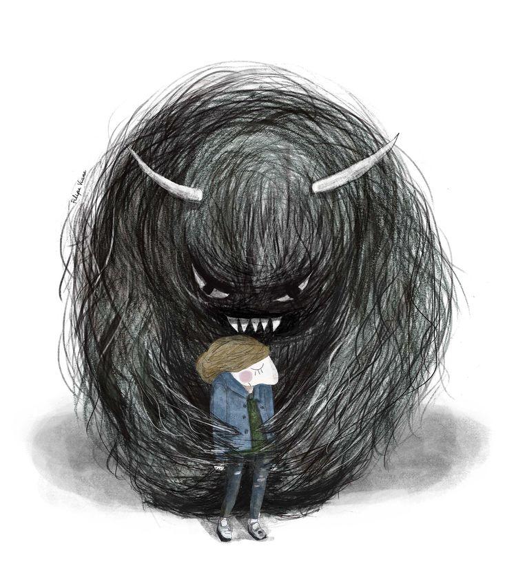 Sadness. #sadness #deep #giant #monster #giantmonster  #illustrations #artists #maskincommunity