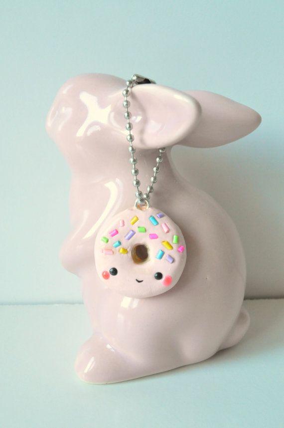 Kawaii Sprinkle Donut Keychain