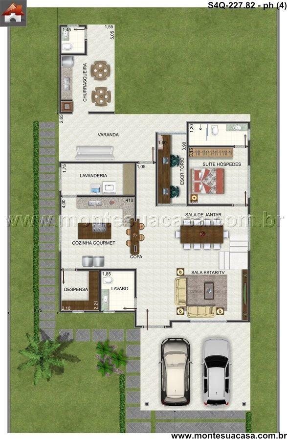 17 melhores imagens sobre plantas de casas no pinterest for Casa moderna 9 mirote y blancana