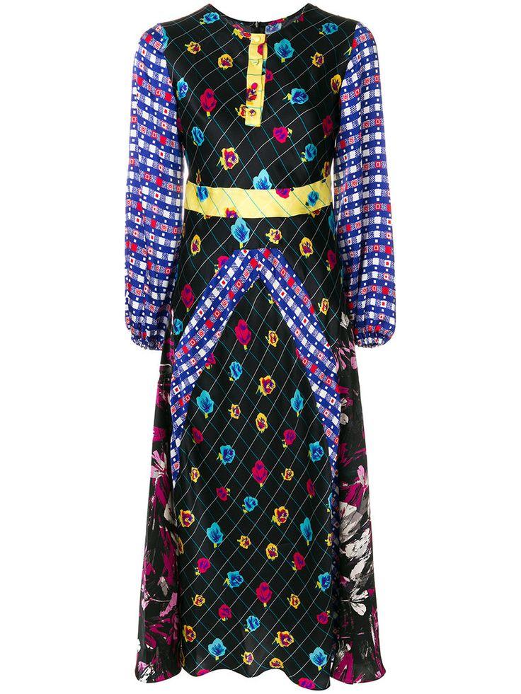 DURO OLOWU DURO OLOWU - PATTERNED LONG SLEEVED DRESS . #duroolowu #cloth #