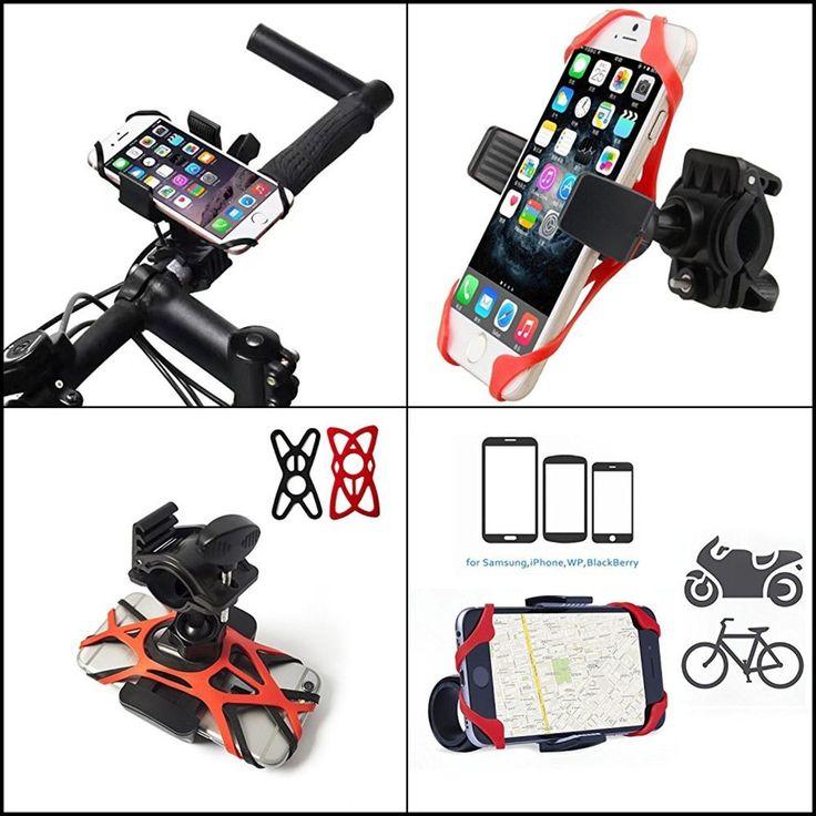Motorcycle/Bike Universal Cell Phone Mount Holder Handlebars, Adjustable NEW #WffDirect