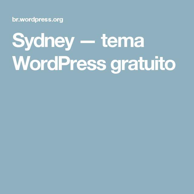 Sydney — tema WordPress gratuito