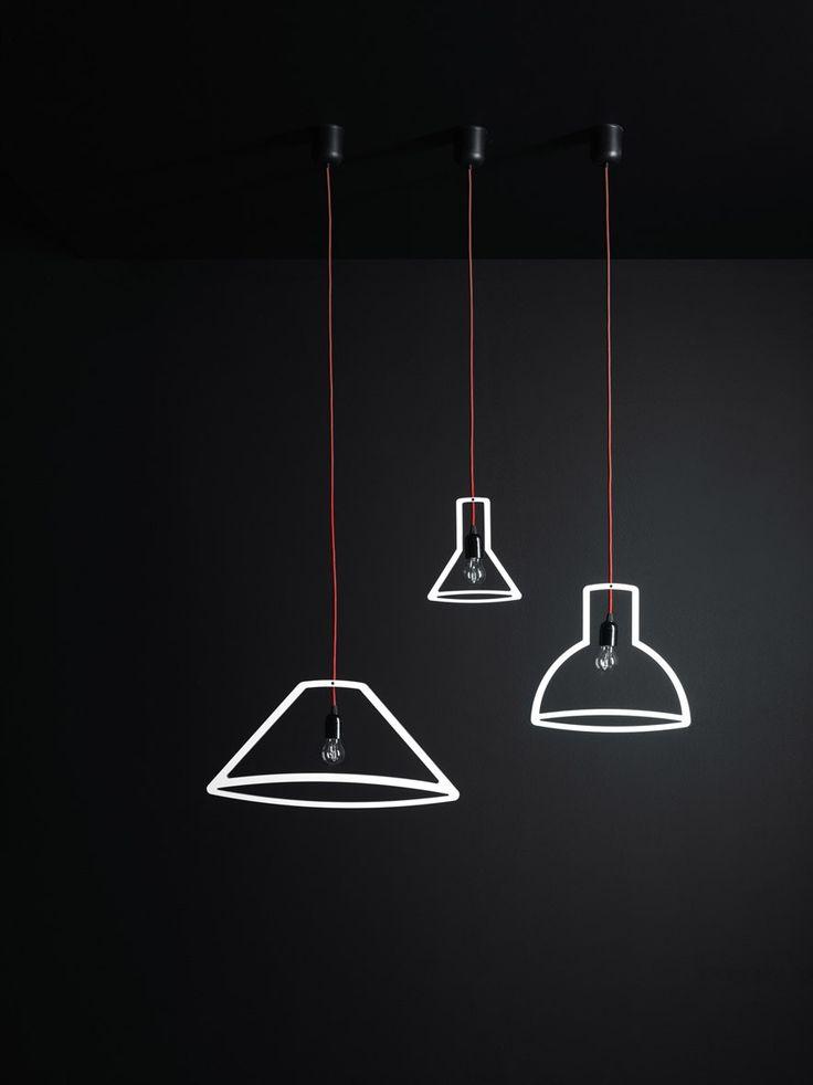 LAMPADA A SOSPENSIONE A LUCE DIRETTA OUTLINER COLLEZIONE LAMPADE BY BOFFI   DESIGN MARTIN SCHMITZ