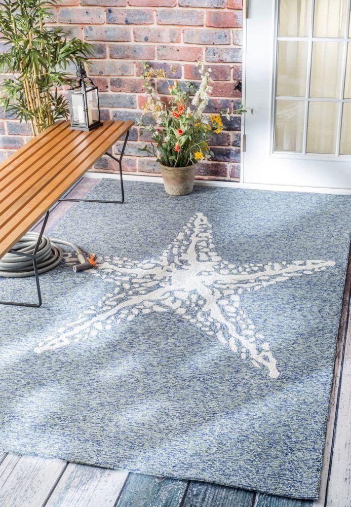 Hand Hooked Marine Indoor/ Outdoor area rug