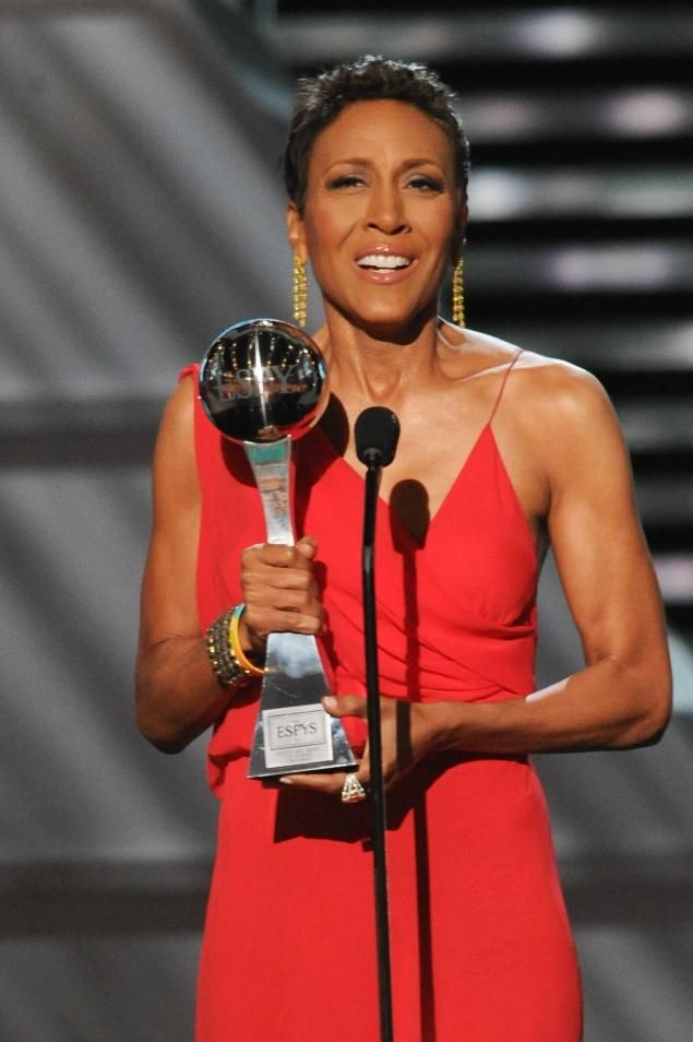 Robin Roberts--lady in red. Sunday marked the one-year anniversary of newswoman's critical 100 days post transplant.