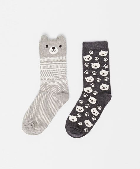 Pack of bear socks - OYSHO