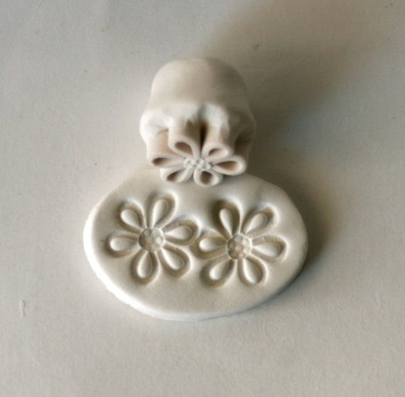 Extra Small Stamp Daisy Flower Texture or Pattern Tool for Polyclay Metal Clay PMC Jewelry Making  $16.50