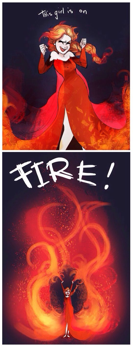 Frozen~Fire Elsa... Would've been a VERY different story.>>well, yea. for one it would have been called Burning or smthng