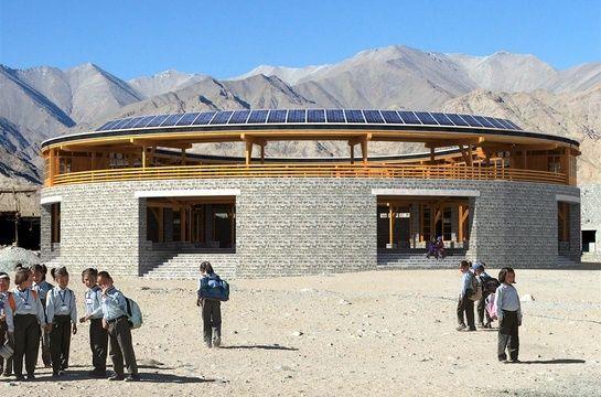 Arup Associates; Druk White Lotus School Completed Pema Karpo Library