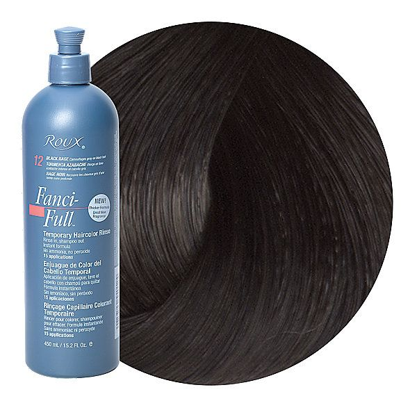 Roux Fanci-Full Temporary Color Rinse is ready-to-use. Requires no activator, no peroxide and no mixing.