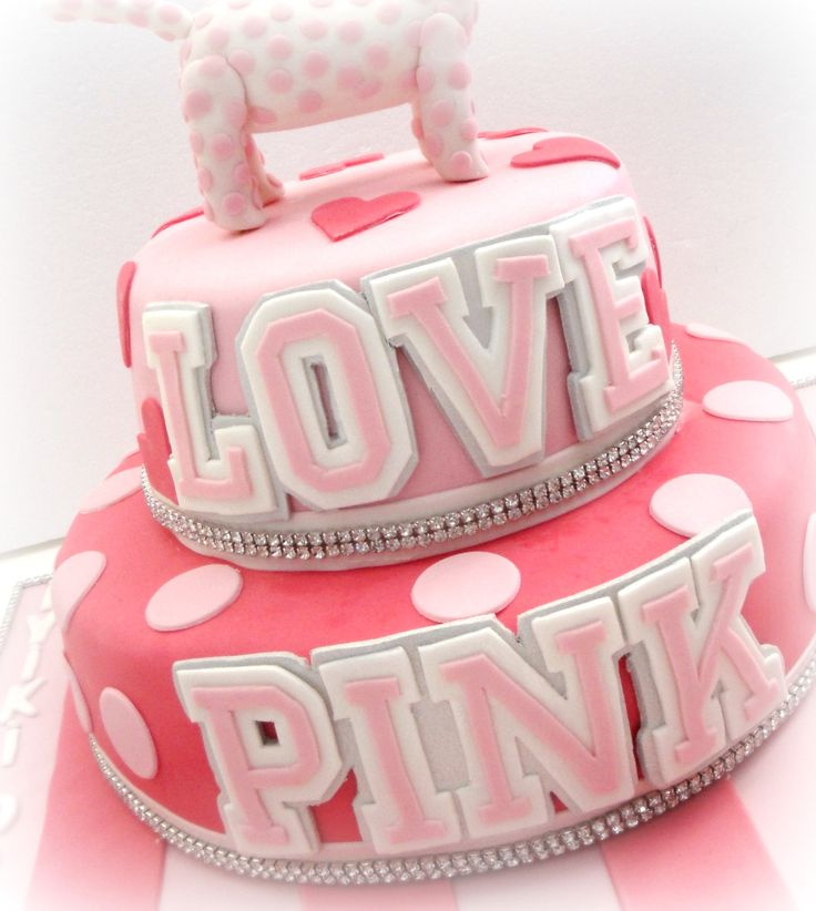 Victoria Secret Pink Birthday Cake
