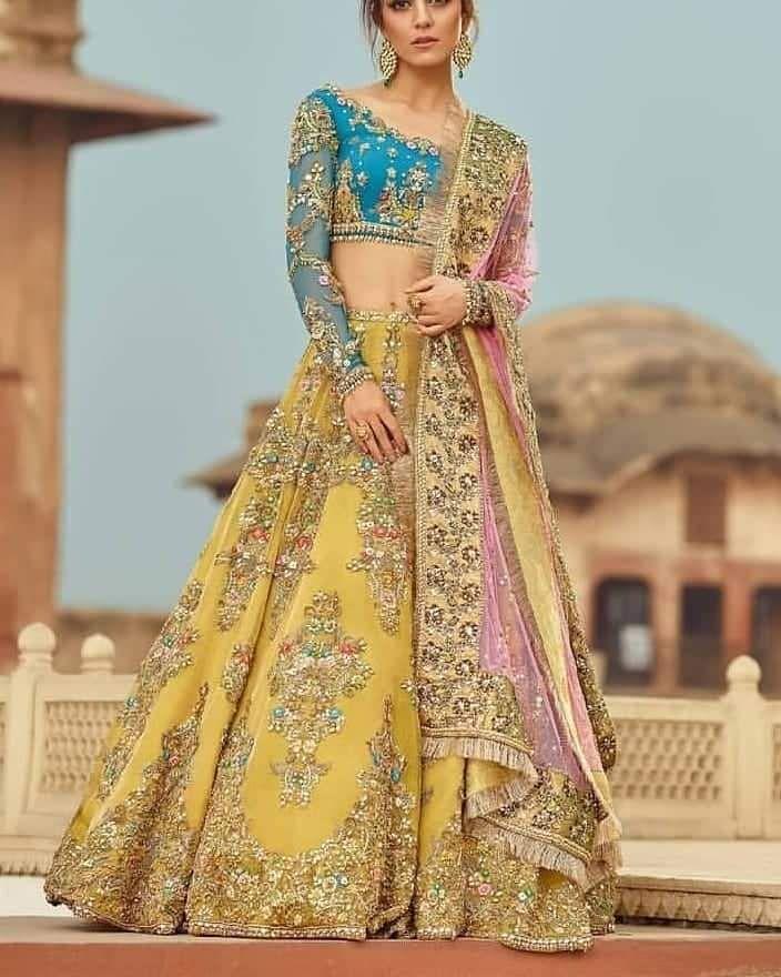 Bridal Lengha Wedding Top Ceremony Dress Indian Lehenga Indian Dress Lehenga Choli Made To Order Traditional Dress Designer Blouse