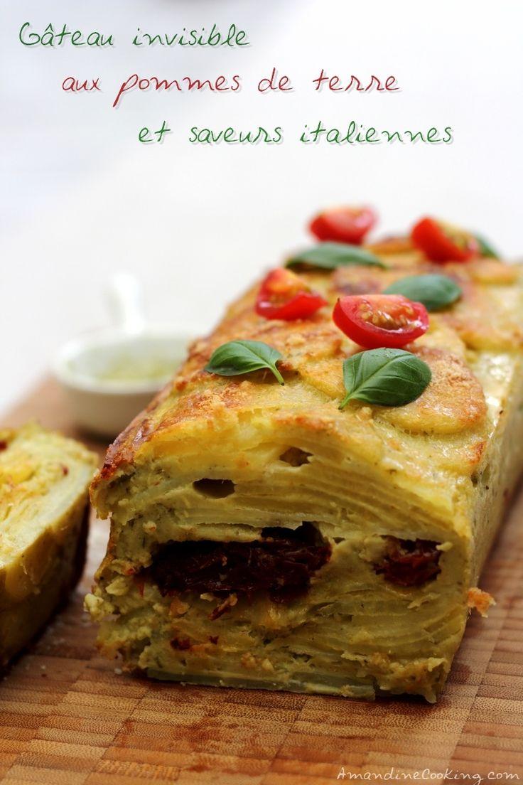 Gâteau invisible aux pommes de terre et saveurs italinnes