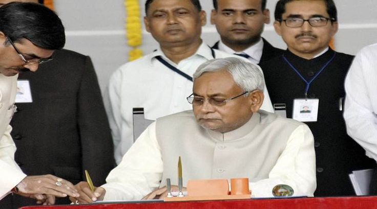 Nitish Kumar sworn in as Bihar CM for fifth time