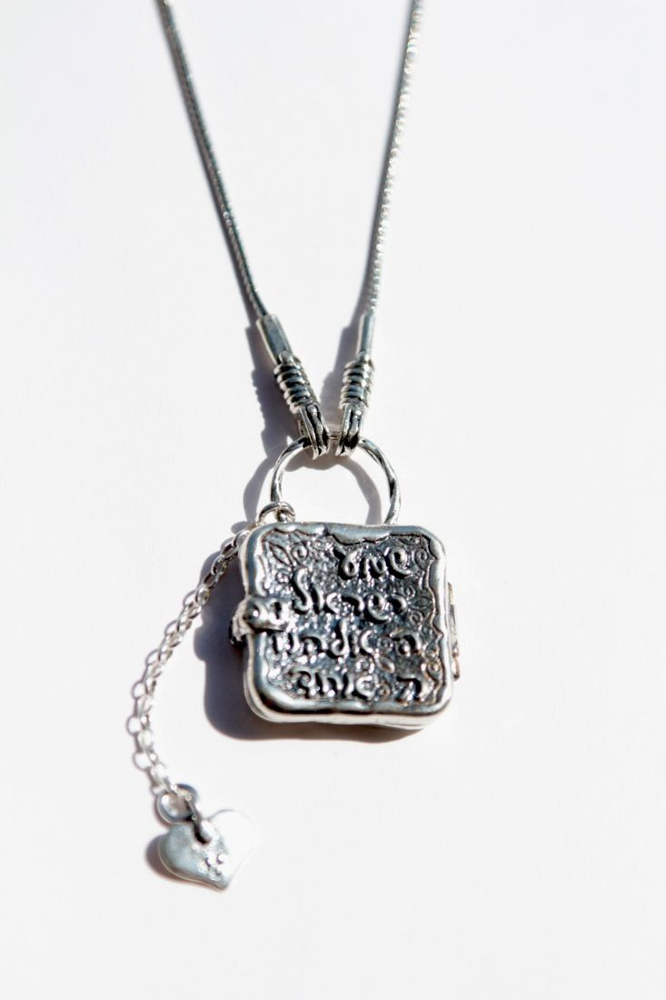 Shema israel bracelet israel bible jewish hebrew prayer kabbalah shma - Sterling Silver Necklace Locket Engraved With Shma Israel Prayer With A Charm Heart Adorable Jewelry