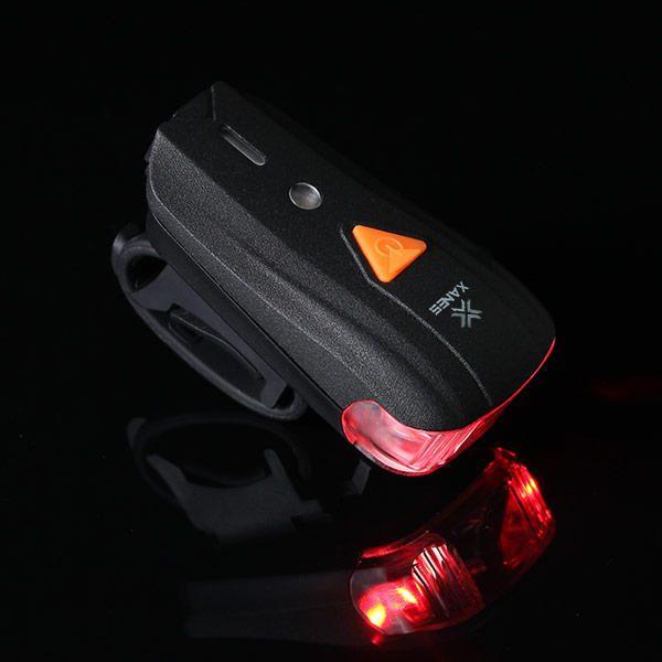 XANES 500LM XPG + 2 LED自転車ドイツ標準スマートセンサー警告灯防水自転車フロントライトヘッドライト懐中電灯5モードUSB充電ナイトライディング セール - バングッド
