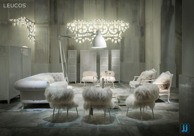 La scenografia ideata da Baxter ospita #TheGreatJJ by Design Lab! #Leucosproject #Leucos #interiordesign #interiorhomedesign #hugelamps