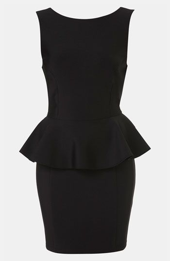 Topshop Peplum Dress (Petite) available at #Nordstrom