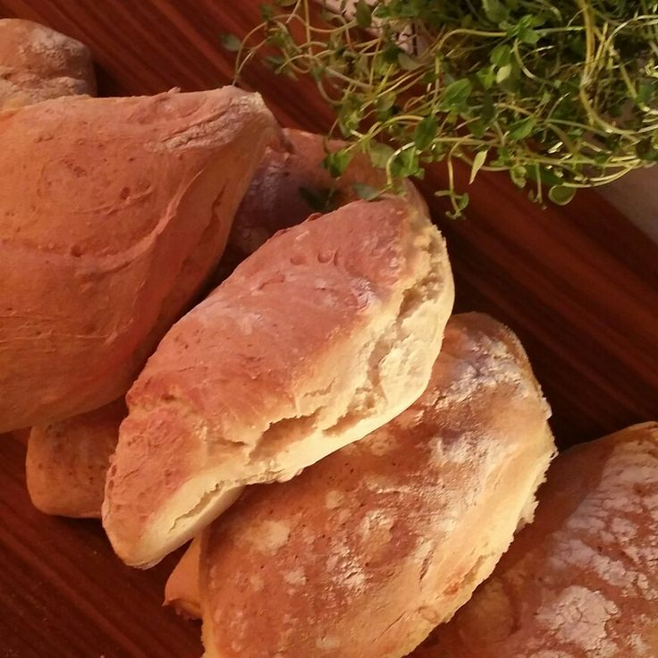 Fresh bread and sunrise.