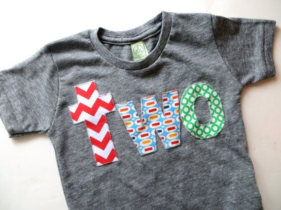 Birthday Shirt For 2 Year Old 2nd Lowercase Two With Red Chevron Pez And Green Circles Primary Colors Blue Yellow