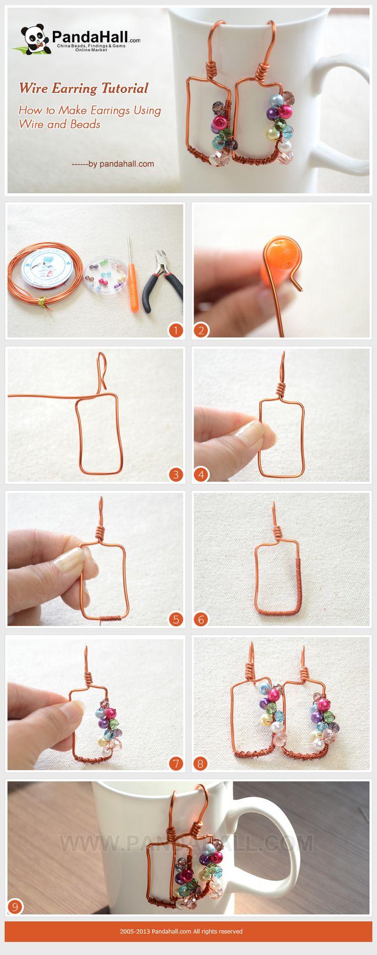 192 best wire wrap tutorial earrings images on Pinterest | Ear studs ...
