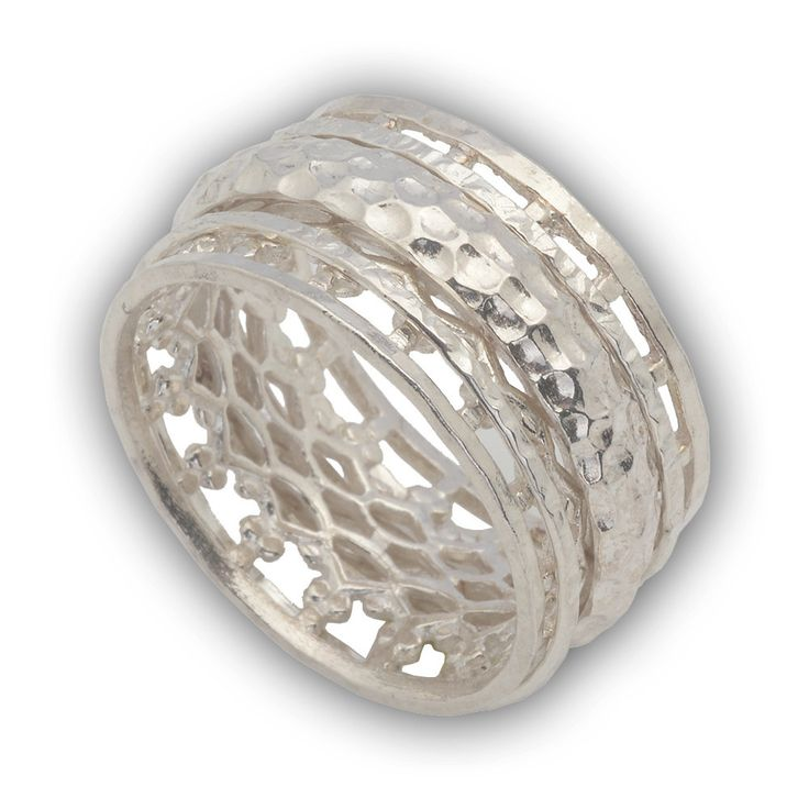 Spinner Ring Sterling Silver 925 3 spinners size 6 - 9 by enjewelrystore on Etsy #Spinner #ring #silver #jewelry #handcrafted #bijoux #ebay