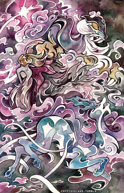 awesome art :Raikou, Entei + Suicune by creepyfish.deviantart.com on @DeviantArt