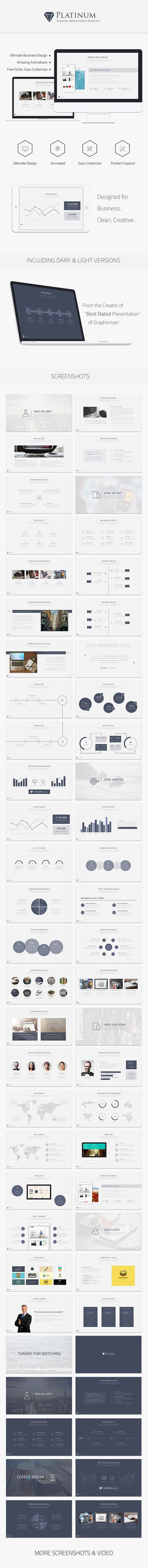 Platinum Business Keynote Template - Business Keynote Templates