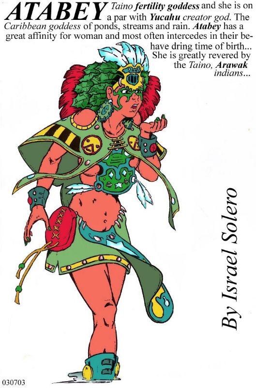 Taino Myth: Atabey Firtility goddess, in Israel Algarin, S's (06) Myths: Taino Caribbean Indians Comic Art Gallery Room