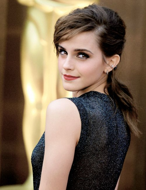 Emma Watson. ❥the eye make up