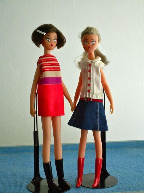 Little vintage Kiraz dolls from France