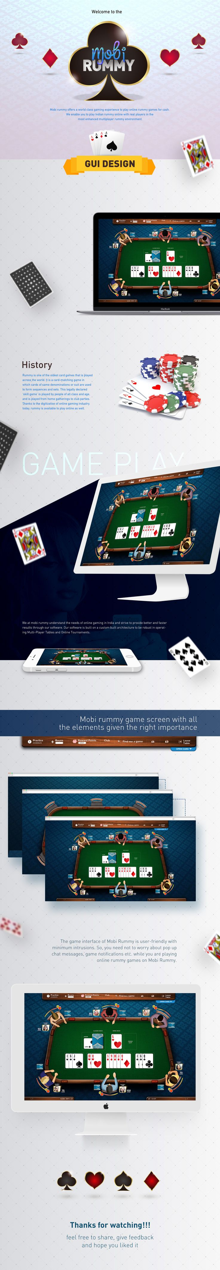 Mobi rummy offers a world class gaming experience to play online rummy games for cash. We enable you to play Indian rummy online with real players in the most enhanced multiplayer rummy environment.