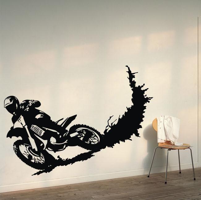 Adesivos De Parede Novos Moto Racer Sujeira Motor Moto Esporte Vinil Arte Decalque Removíveis Adesivos De