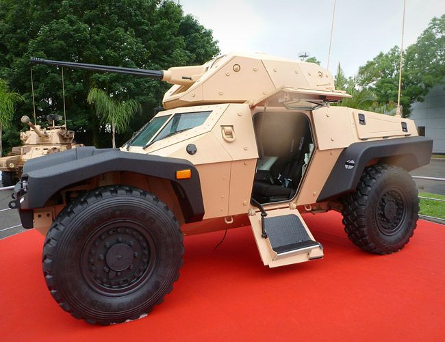 the Panhard CRAB (Combat Reconnaissance Armoured Buggy) is part mini-tank, part dune buggy