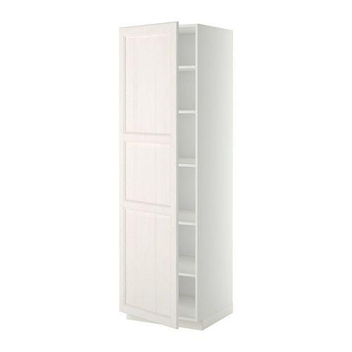 METOD Armoire avec tablettes IKEA Vous pouvez choisir l'espacement qui vous convient car la tablette est réglable en hauteur.