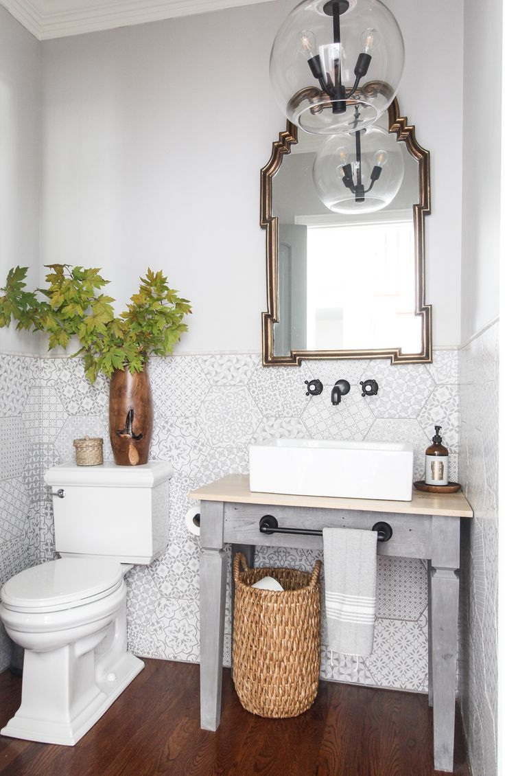Photo Image Grey and white bathroom vessel sink