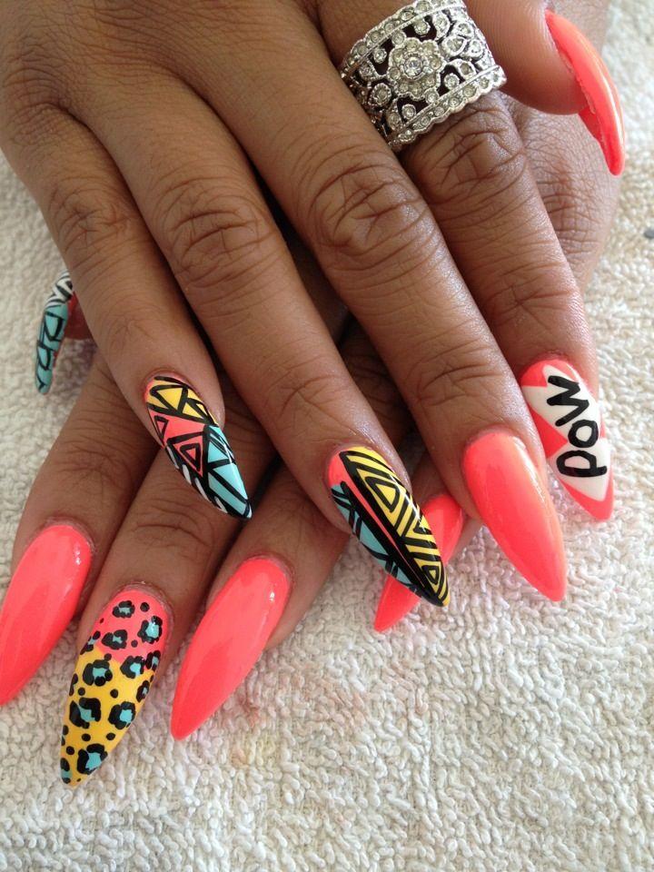 love crazy nail designs nail nails nailart unha unhas unhasdecoradas nails pinterest. Black Bedroom Furniture Sets. Home Design Ideas