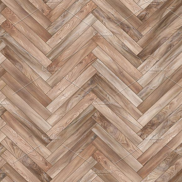 Seamless wood parquet texture (herringbone light brown) by Vdr0id on @creativemarket