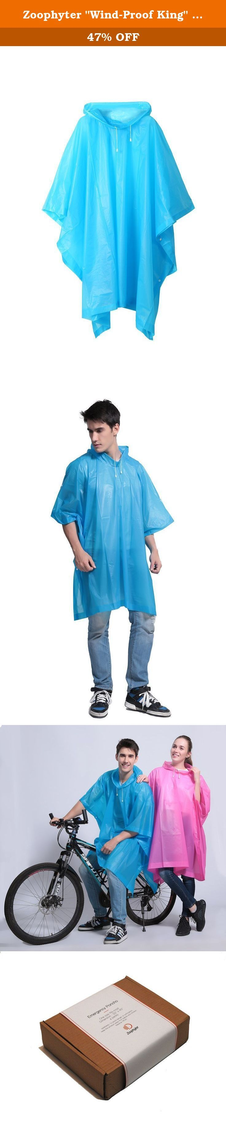 "Zoophyter ""Wind-Proof King"" 4pcs Assorted Adult Emergency Disposable Rain Poncho. Zoophyter rain-proof king poncho This poncho provides maximum coverage when you need it most. The lightweight PEVA fabric makes it easy to slip on and side snaps keep it securely in place. A pull over hood protects your head from unwanted rain drops. Each poncho comes with its own mesh carry case. One size fits most. About The Product Product Size: 50 X 40 inches Package Size: 10 x 8 X 3 inches Package…"