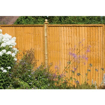 Larchlap Closeboard Fence Panel 0.9m - Pack of 3