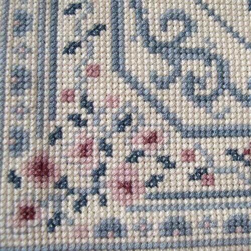 My dollhouse oriental rug, detail